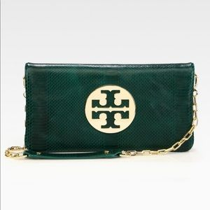 Tory Burch Green Reva Purse with Dustbag